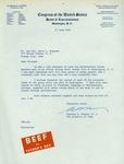 Letter from Congressman Hoeven, 1964