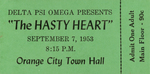 """""""The Hasty Heart"""" Ticket, 1953"""