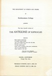 The Antigone of Sophocles, 1963 by Unknown