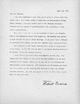 Robert Evans Letter by Robert Evans