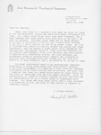 Howard Motha Letter by Howard H. Motha