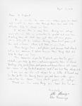 Allen Namminga Letter by Allen Namminga