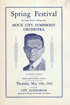 """Sioux City Symphony Orchestra Program for """"Tulip Time in Orange City"""""""