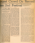 Newspaper Article, Orange City Tulip Festival