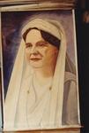 Oil painting: Queen Wilhelmina by Roeland Van Cavel