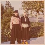 Personal photo: Roeland & Margaret in costume around 1980 by Roeland Van Cavel