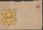 Envelope with Jewish Star & Note from Roderich Wolff to Elisabeth Wolff, Camp Gijsselte, near Hoogeveen, The Netherlands, 1942