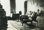 Photograph of an interior living room of an apartment, Summer 1939