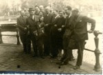 Photograph of Roderich & Elisabeth Wolff with 9 other individuals, possibly Summer 1939