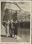 Photograph of Roderich & Elisabeth Wolff and unknown woman, undated