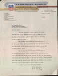 Letter from Union Pacific Railroad to Roderick Wolff, August 7, 1958