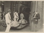 Photograph at Alkmaar cheese market, undated