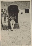 Photograph of Elisabeth Wolff on a beach chair, undated