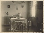 Photograph of a dining room, [19]45