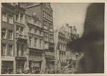 Photograph of street scene and buildings, December 1945