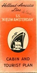"Brochure of the Holland-American Line, Cabin and Tourist Plan, ""S.S. Nieuw Amsterdam,"" June 22, 1948"