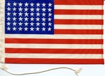 A small American flag, undated