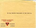Envelopes addressed to the General Secretary of the Y.M.C.A. from the Algemene Maatschappij Voor Jongeren (AMVJ, Amsterdam, undated