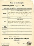 Extract from Marriage Register (Auszug aus dem Trauregister) of Johan and Johanne Müller, issued August 7, 1943