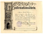 Confirmation certificate of Johanna Elisabeth Bachmann, issued April 6, 1940