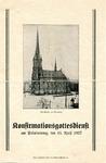 Confirmation Service (Konfirmationsgottesdienst) of Elisabeth Bachmann, April 10, 1927